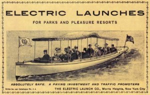 Plug in Electric Boats from Chicago Worlds Fair 1893.