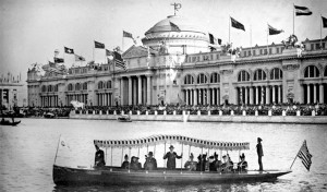 Chicago Worlds Fair Plug In Electric Boat from 1893.